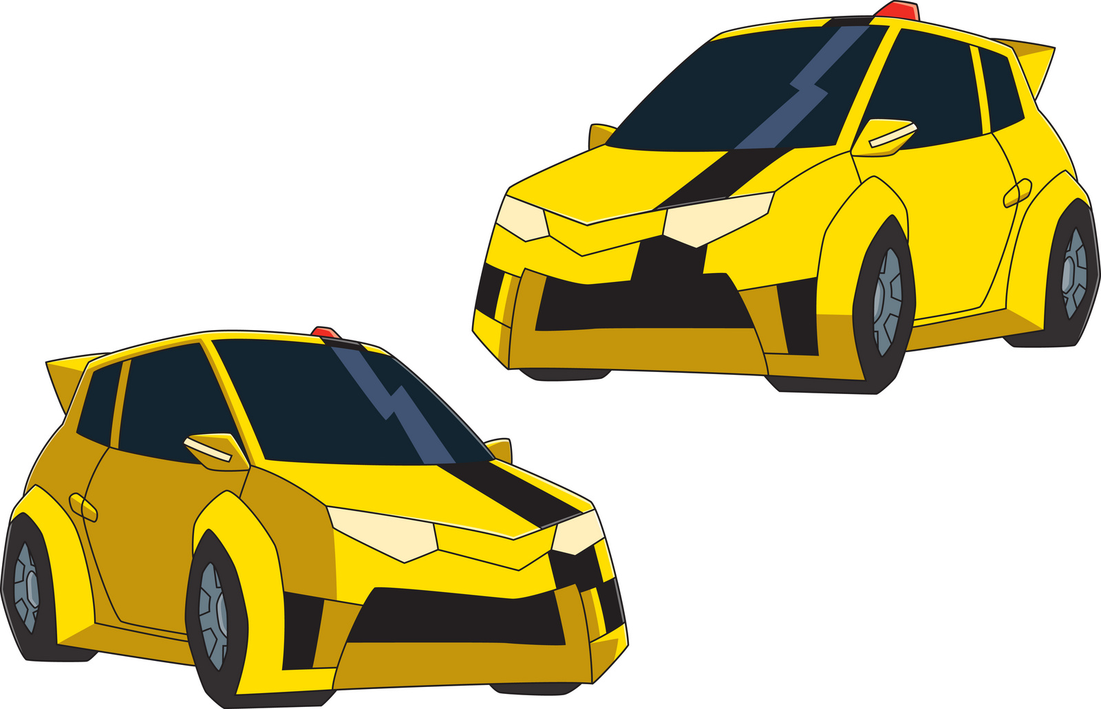 Bumble Bee Car Cartoon