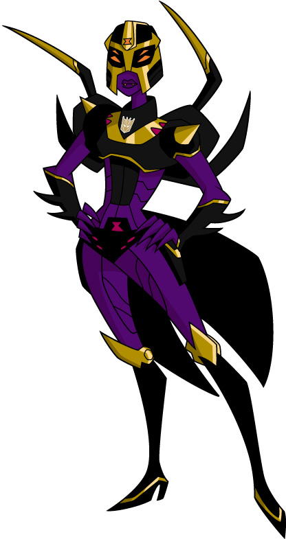 Blackarachnia Animated-Decepticon-Blackarach