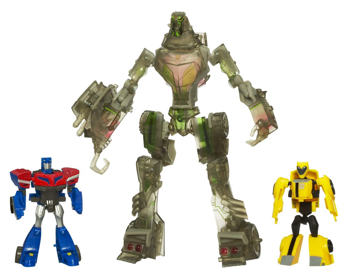 Lockdown (Stealth) with Legends Bumblebee and Optimus Prime Image