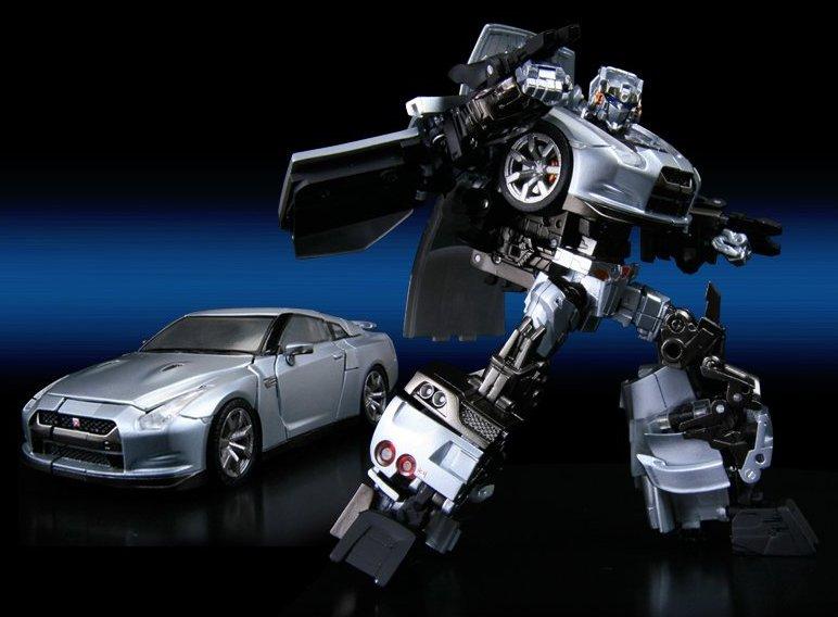 Silver Car Transformer Toy  S