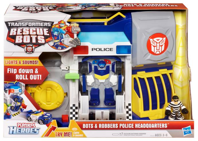 Bots & Robbers Police Headquarters with Chase Rescue-Bots-Bots-and-Robbers-Box