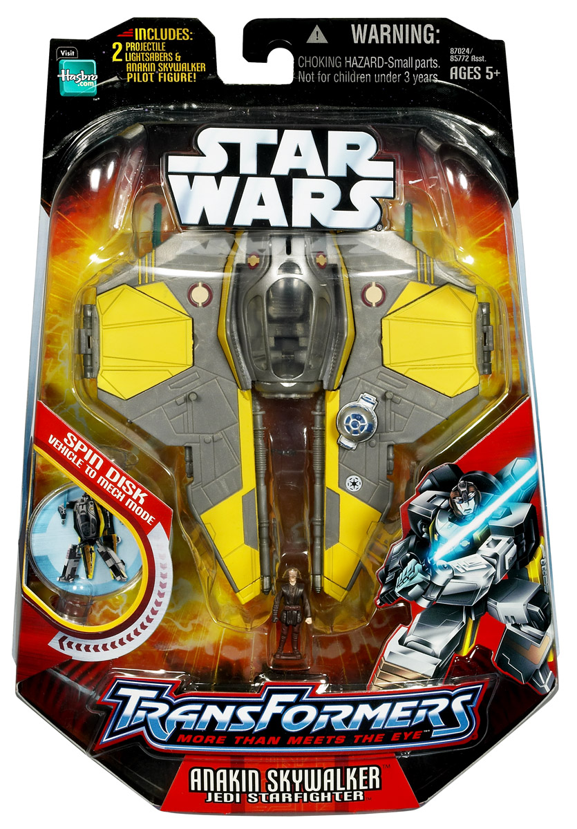 Anakin Skywalker Jedi Starfighter Revenge Of The Sith Transformers Toys Tfw2005