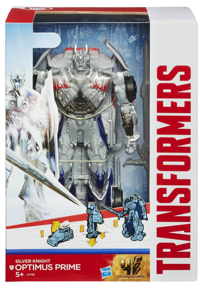 Transformers 4 SILVER KNIGHT OPTIMUS PRIME Smash /& Change Hasbro New Loose
